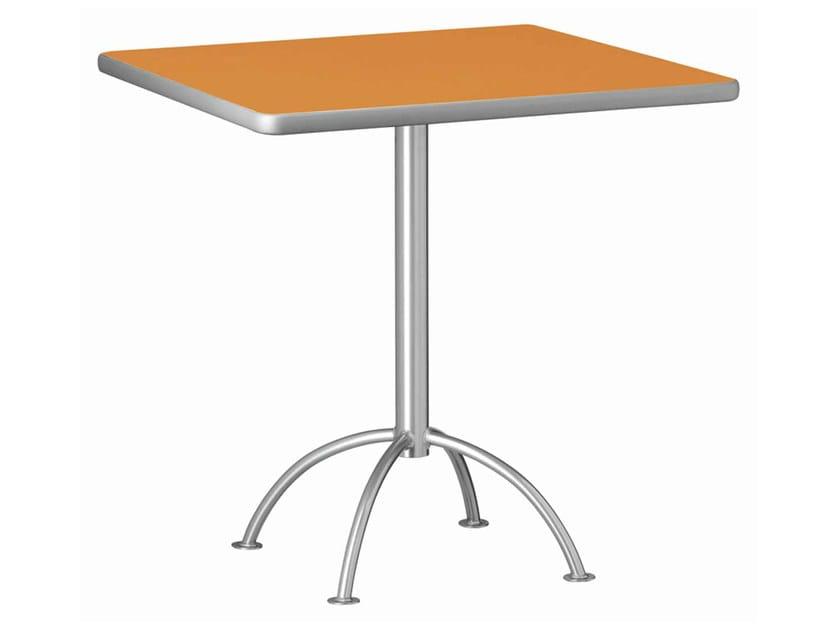 Square steel table ELFO 407 | Square table - Metalmobil