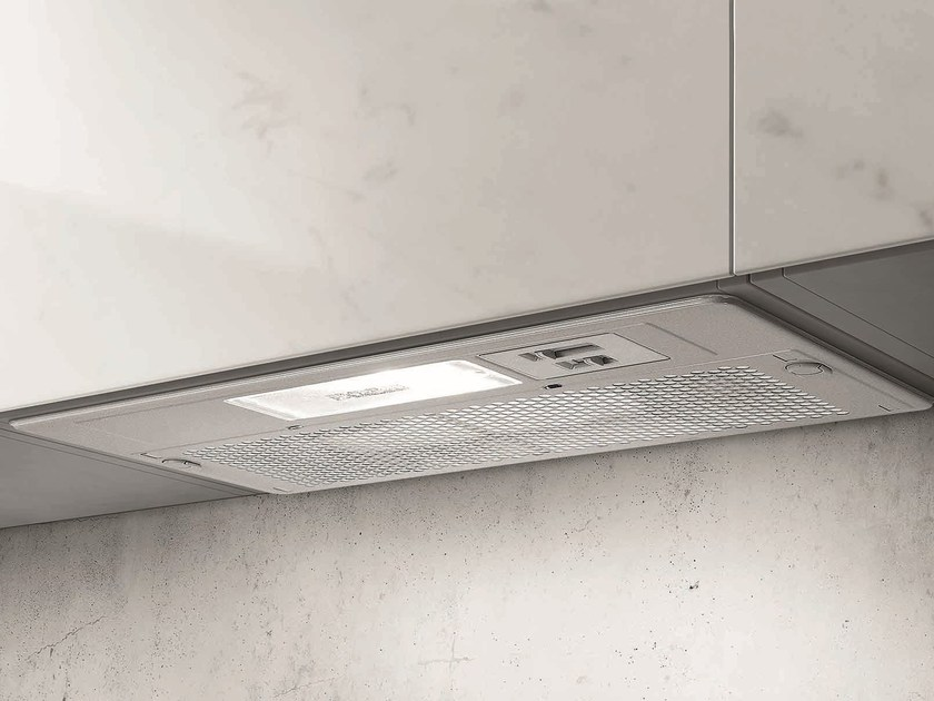 Built-in stainless steel cooker hood with integrated lighting ELIBLOC 3 by Elica