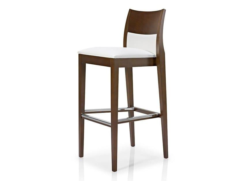 Fabric counter stool with footrest ELIE | Chair with footrest - J. MOREIRA DA SILVA & FILHOS, SA