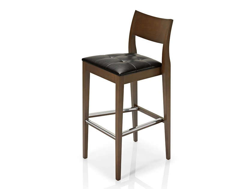 Leather counter stool with footrest ELIE | Counter stool - J. MOREIRA DA SILVA & FILHOS, SA