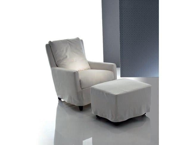Fabric armchair with armrests ELISA | Fabric armchair - Marac