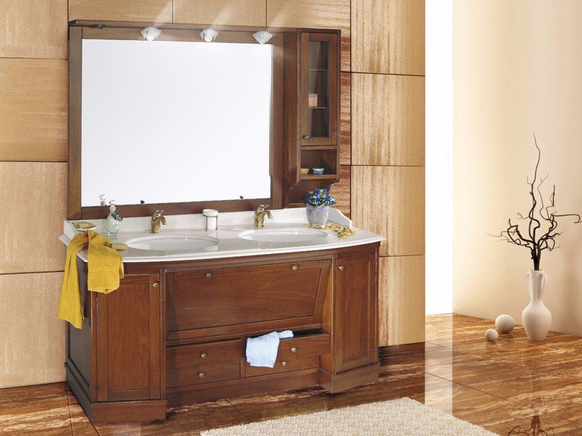 Double vanity unit with mirror ELISABETTA CM01EL - LA BUSSOLA