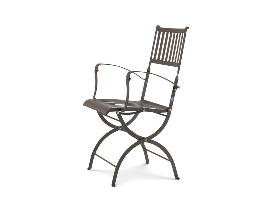 Folding garden chair with armrests ELISIR | Garden chair with armrests - Ethimo