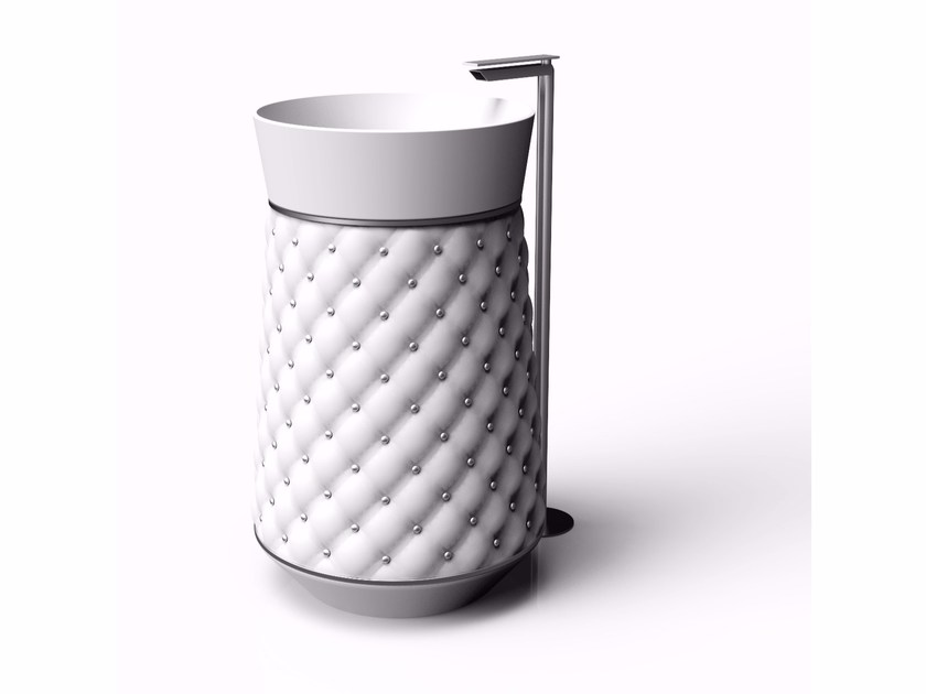 Lavabo freestanding in Adamantx® ELIZABETH by ZAD ITALY