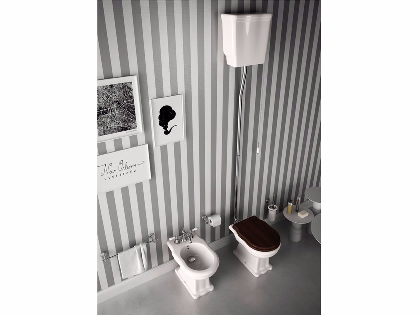 Ceramic toilet with external cistern ELLADE | Ceramic toilet - Hidra Ceramica