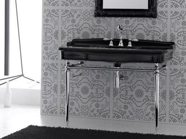 Console ceramic washbasin ELLADE by Hidra Ceramica