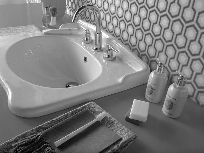 Inset ceramic washbasin ELLADE | Inset washbasin - Hidra Ceramica