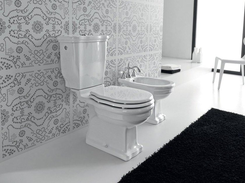 Close coupled ceramic toilet ELLADE | Close coupled toilet - Hidra Ceramica