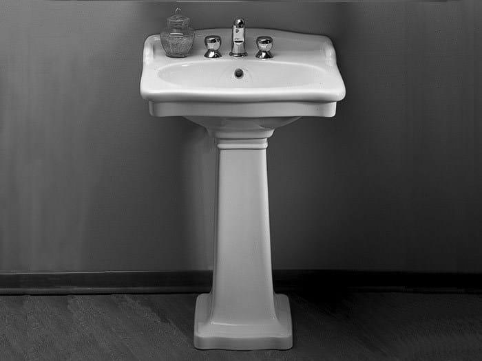Pedestal ceramic washbasin ELLADE | Washbasin - Hidra Ceramica