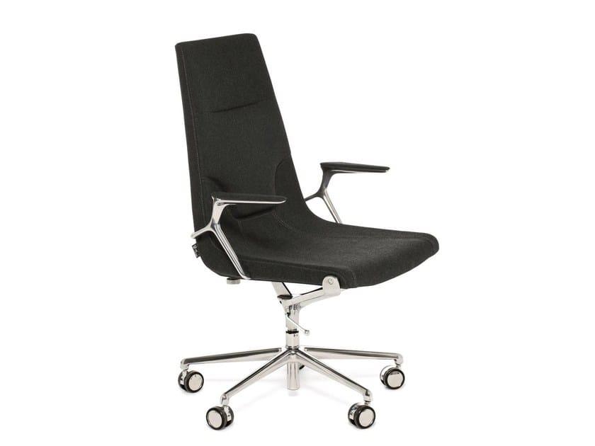 Swivel fabric task chair with 5-Spoke base ELLE 01 | Task chair with 5-Spoke base - Emmegi