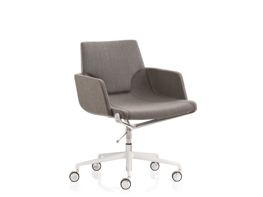 Height-adjustable fabric task chair with 5-Spoke base with armrests ELLE 01 | Task chair with armrests by Emmegi