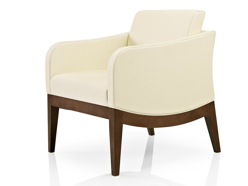 Leather easy chair with armrests ELLEN | Easy chair with armrests - J. MOREIRA DA SILVA & FILHOS, SA