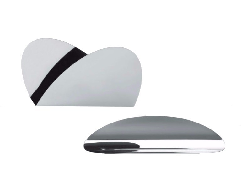 Stainless steel pen holder / desk set ELLIPSE | Desk set - ALESSI