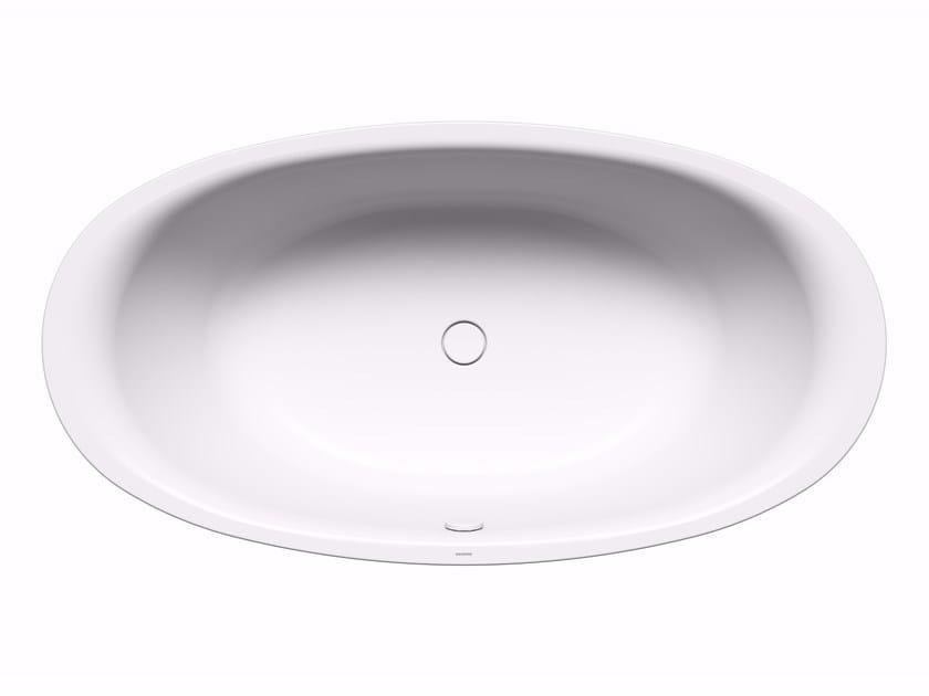 Vasca da bagno centro stanza ovale in acciaio smaltato for Piani di casa acadiani con stanza bonus
