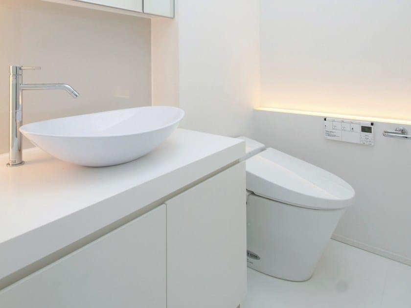 Oval single concrete resin washbasin ELLISSECOCCO - Sanwa Company