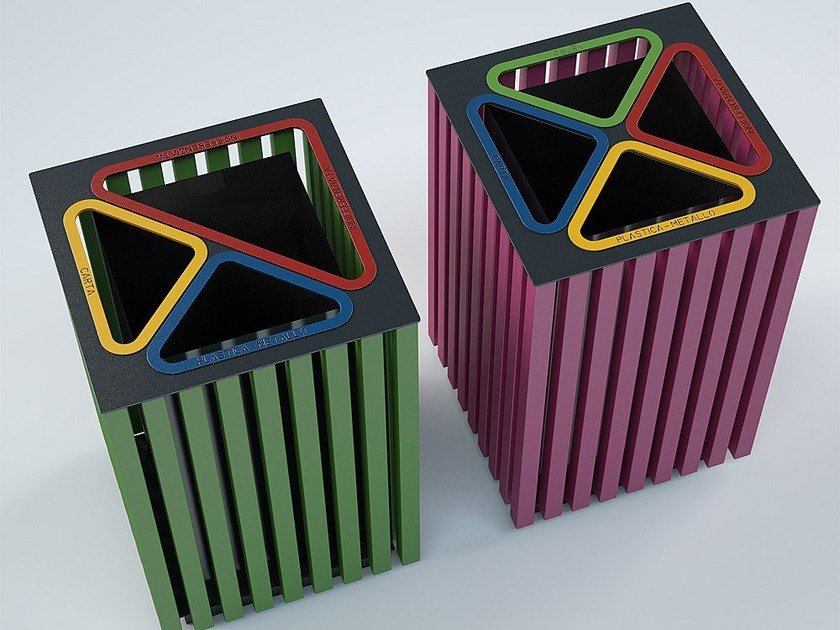 Steel waste bin for waste sorting ELODIE - CITYSì