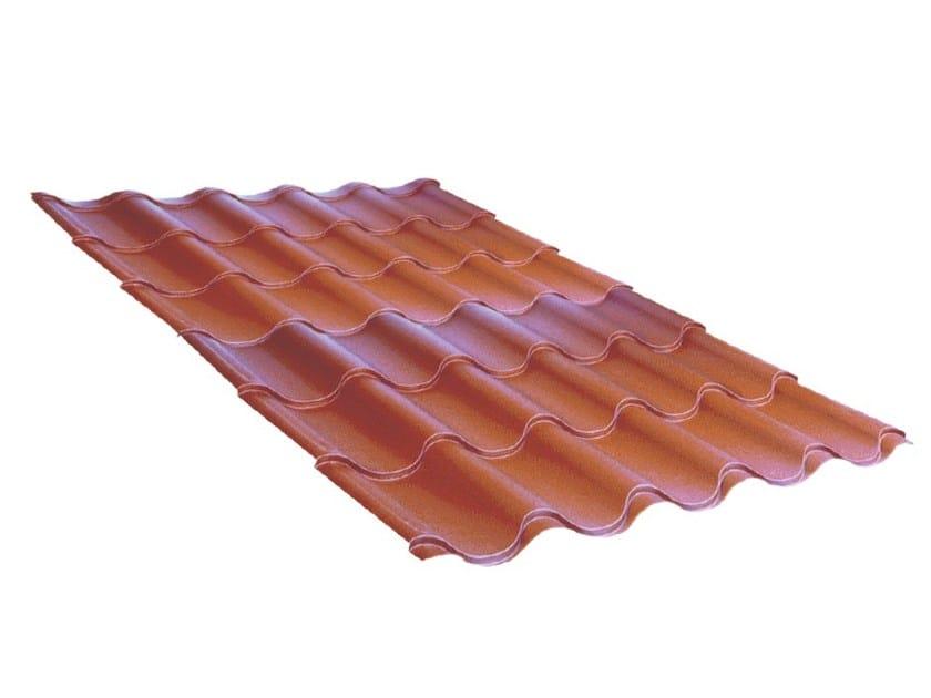 Lastra metallica di copertura effetto tegola ELYFORMA METAL - Brianza Plastica
