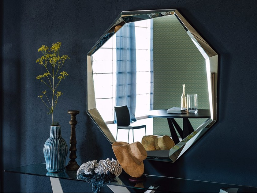 Wall-mounted framed mirror EMERALD by Cattelan Italia