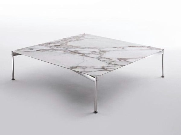 Low square marble coffee table EMIL | Square coffee table - Marac