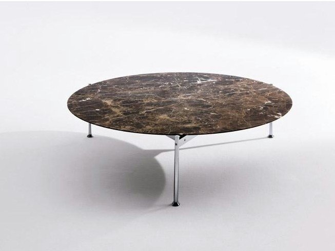 Low round marble coffee table EMIL | Round coffee table - Marac