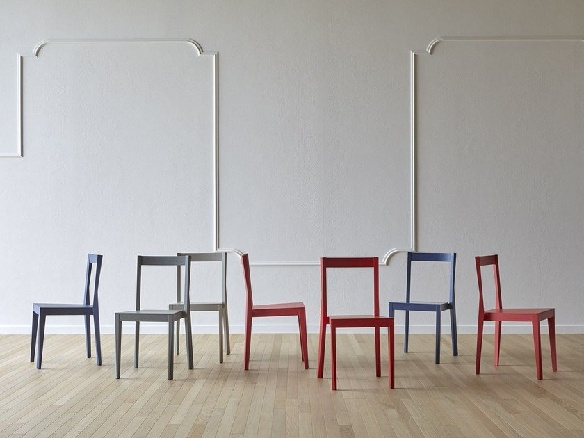 Lacquered wooden chair EMILIA - Miniforms