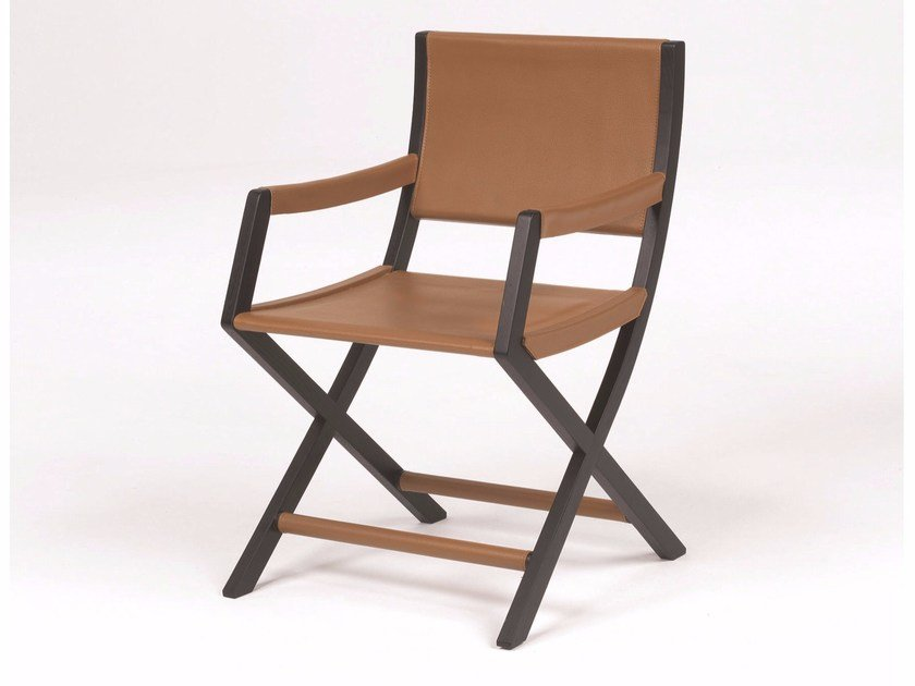 Tanned leather chair EMILY | Chair - FLEXFORM