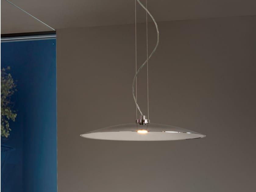 LED brass pendant lamp EMISFERO | Pendant lamp by tender rain