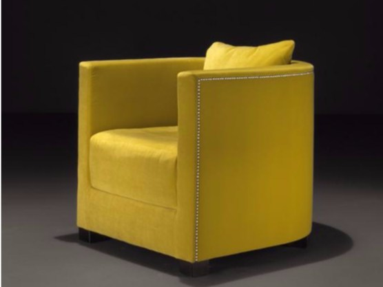 Fabric armchair with armrests EMMA - Casamilano