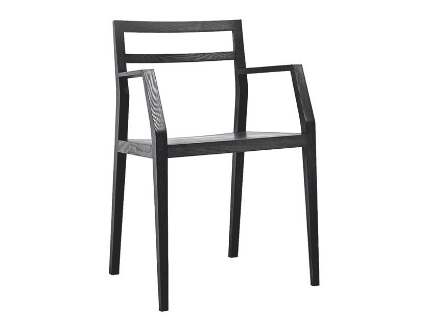 Open back chair with armrests EMMA - MINT FACTORY