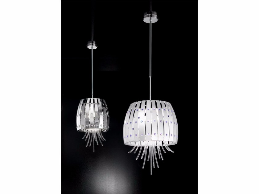Metal pendant lamp with Swarovski® Crystals EMOTION | Pendant lamp - IDL EXPORT