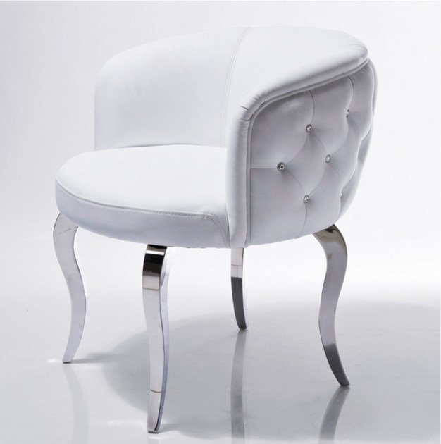 Fabric easy chair EMPORIO WHITE - KARE-DESIGN