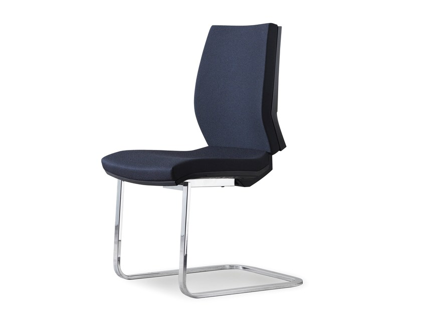 Cantilever upholstered fabric chair ENA HOSPITALITY by FANTONI