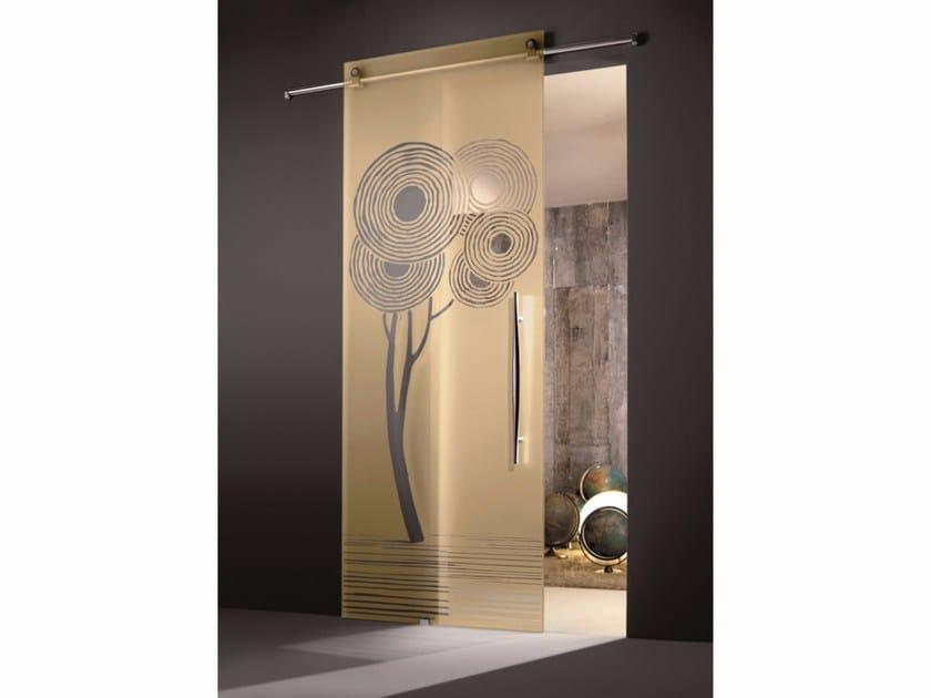 Glass sliding door ENALIOS CHAMPAGNE - Casali