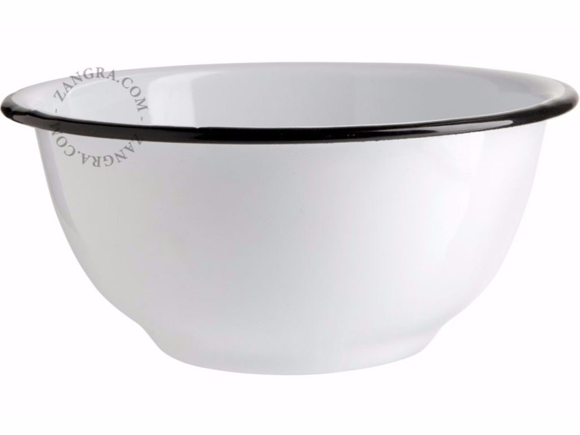 Coppa in metallo smaltato ENAMEL BOWL - ZANGRA