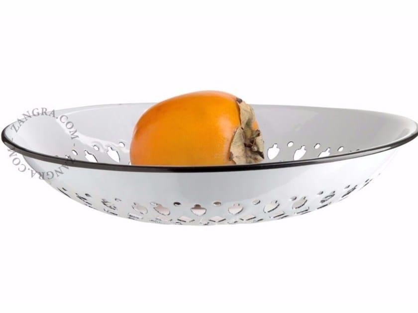 Portafrutta in metallo smaltato ENAMEL FLAT COLANDER - ZANGRA
