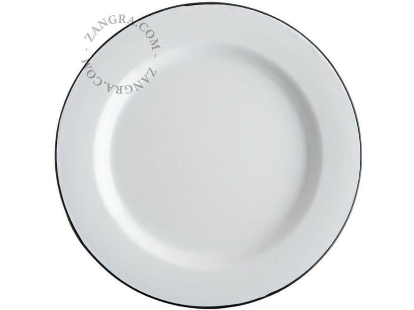 Enamelled metal dinner plate ENAMEL PLATE | Dinner plate - ZANGRA