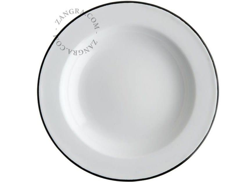 Piatto fondo in metallo smaltato ENAMEL PLATE | Piatto fondo by ZANGRA
