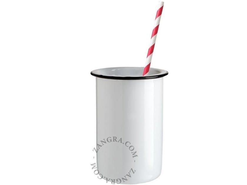 Portaspazzolino / bicchiere in metallo smaltato ENAMEL TUMBLER | Bicchiere in metallo smaltato - ZANGRA