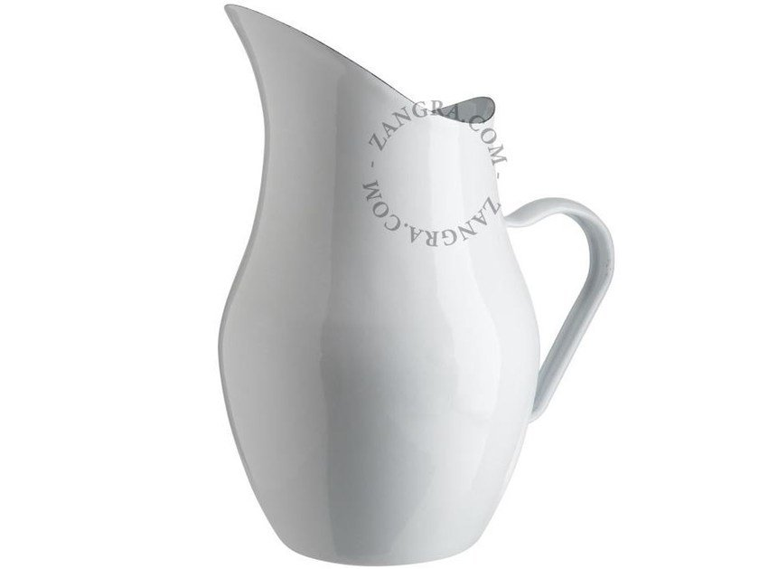 Enamelled metal jug ENAMEL WATER CARAFE by ZANGRA
