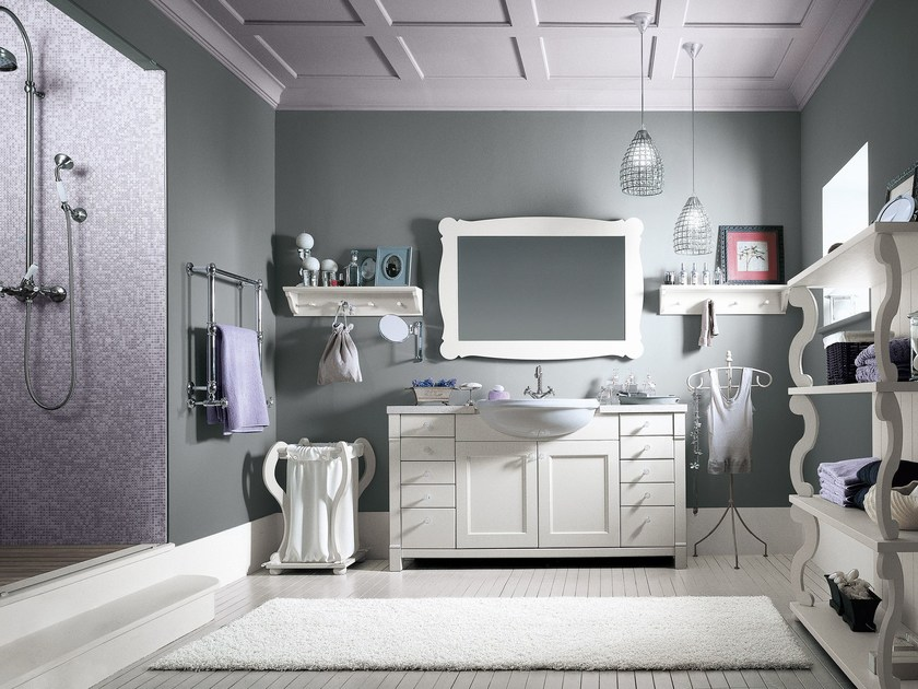 Solid wood bathroom furniture set ENGLISH MOOD | Bathroom furniture set - Minacciolo