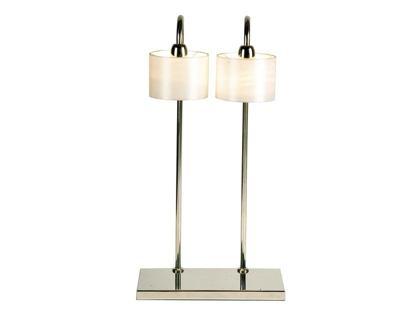 Stainless steel table lamp ENGUIA DOUBLE by Branco sobre Branco