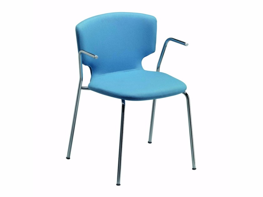 Chair with removable cover with armrests ENNA ARM - 52H - Alias
