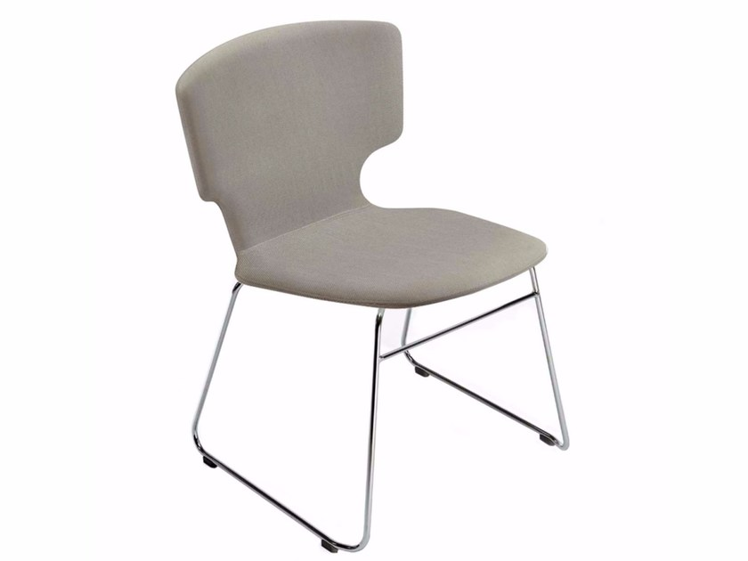 Sled base chair with removable cover ENNA CHAIR - 52B - Alias