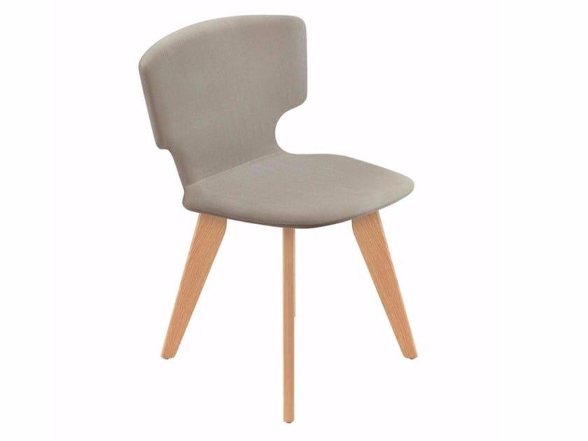 Upholstered chair ENNA WOOD - 52E - Alias