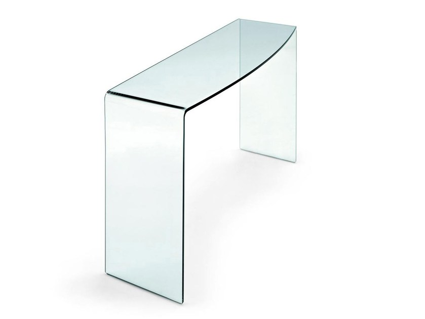 Rectangular glass console table ENTER - Calligaris