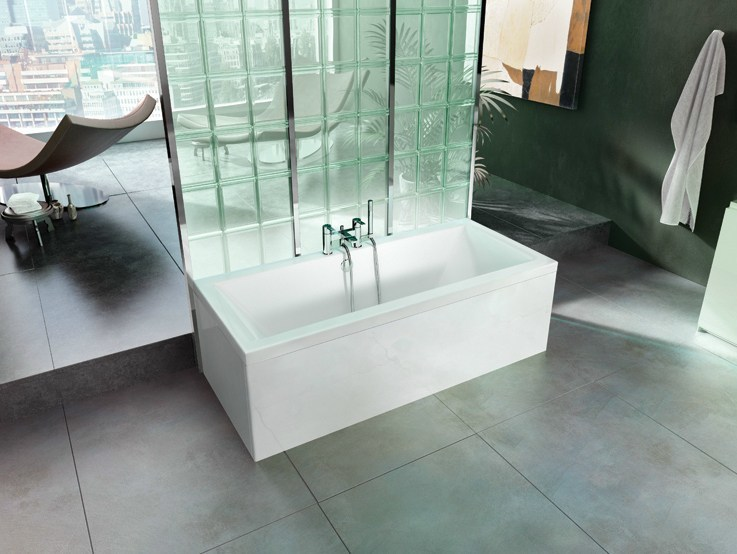 Rectangular synthetic material bathtub ENVIRO - Polo