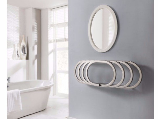 Chrome wall-mounted towel warmer EOS - Hotwave