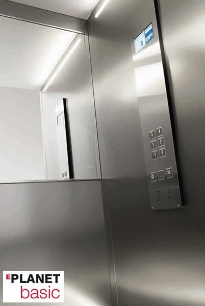 Machine Room-Less gearless custom lift EPLANET BASIC - GRUPPO MILLEPIANI