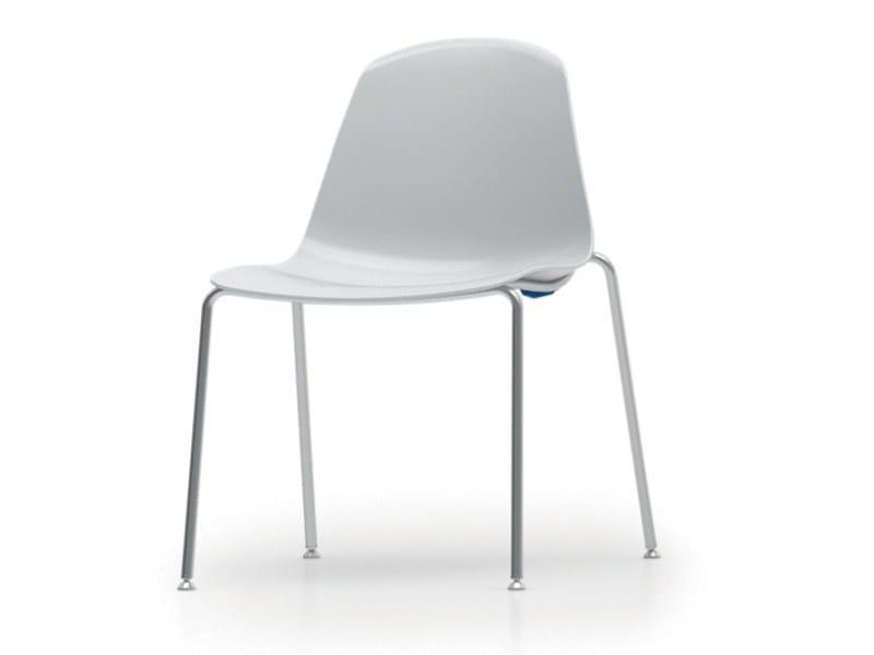 Stackable polypropylene chair EPOCA | Chair - Luxy