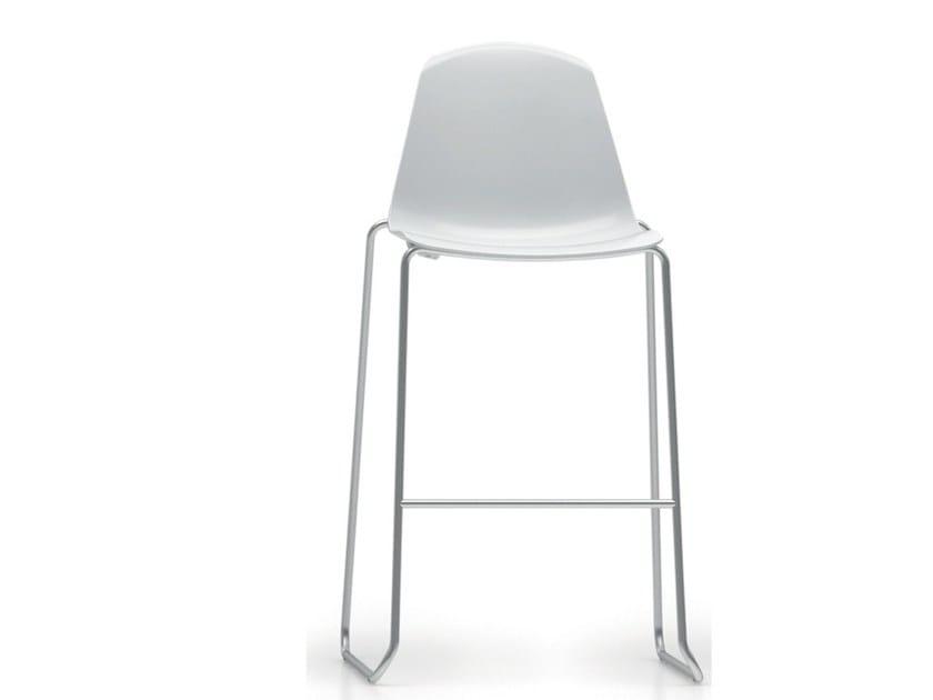 Sled base stackable polypropylene counter stool EPOCA | Counter stool - Luxy